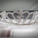 Fancy Silver Crystal Occasion Tiara;Delicate 15 or 16 Birthday Tiara;Fashion Hair accessories#10709