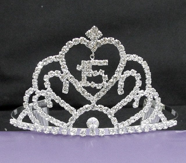 Silver Crystal Occasion Tiara;Delicate 15 or 16 Birthday Tiara;Huge Fashion Hair accessories#7063cn