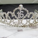 Silver Crystal Occasion Tiara;Delicate 15 or 16 Birthday Tiara;Fancy Fashion Hair accessories#7595cn