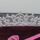 Silver Crystal Occasion Tiara;Delicate 15 or 16 Birthday Tiara;Fancy Fashion Hair accessories#1918