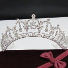 Silver Crystal Occasion Tiara;Delicate 15 or 16 Birthday Tiara;Fancy Fashion Hair accessories#1062