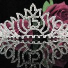 Silver Crystal Occasion Tiara;Huge 15 Birthday Tiara;Fancy Fashion Hair accessories#1048