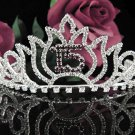 Silver Crystal Occasion Tiara; 15 Birthday Tiara;Fancy Fashion Hair accessories#1047r