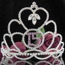 Silver Crystal Occasion Tiara;Huge 15 Birthday Tiara;Fancy Fashion Hair accessories#1043pu