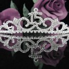 Cute 15 Birthday Tiara;Silver Crystal Occasion Tiara;Fancy Fashion Hair accessories#1040