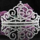 Elegance 16 Birthday Tiara;Silver Crystal Occasion Tiara;Fancy Fashion Hair accessories#1033