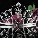 Elegance 15 or 16 Birthday Tiara;Silver Crystal Occasion Tiara;Fancy Fashion Hair accessories#1021