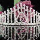 Elegance 15 or 16 Birthday Tiara;Silver Crystal Occasion Tiara;Fancy Fashion Hair accessories#1020