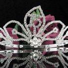 Elegance 15 Birthday Tiara;Silver Crystal Occasion Tiara;Fancy Fashion Hair accessories#1018