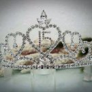 Huge 15 Birthday Tiara;Occasion Crystal Tiara;Fancy Fashion Hair accessories#1334