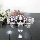 Floral Bridesmaid Tiara;Crystal Silver Pearl Bride headband ;Fancy Fashion Hair accessories #481
