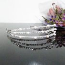 Floral Bridesmaid Tiara;Crystal Silver Bride Triple Headband ;Fancy Fashion Hair accessories #1290pl
