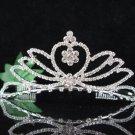 Bridesmaid Tiara;Occasion Crystal Silver Bride Headpiece #550