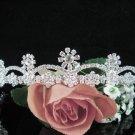 Bridesmaid Tiara;Occasion Crystal Silver Bride Headpiece;Fancy Fashion Hair accessories #38