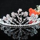 Bridesmaid Tiara;Occasion Crystal Silver Bride Headpiece;Fancy Fashion Hair accessories #3871