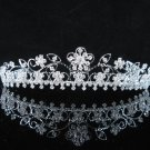 Crystal Silver Bride Headpiece ;Bridesmaid Tiara;Bridal Veil ;Fancy Fashion Hair accessories #683