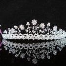 Crystal Silver Bride Headpiece ;Bridesmaid Tiara;Bridal Veil ;Fancy Fashion Hair accessories #771s