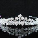 Crystal Silver Bride Headpiece ;Bridesmaid Tiara;Bridal Veil ;Fancy Fashion Hair accessories #1314