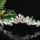 Crystal Silver Bride Headpiece ;Bridesmaid Tiara;Bridal Veil ;Fancy Fashion Hair accessories #1451