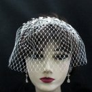 Bridal Veil ;Crystal Silver Pearl Bride Headband;Bridesmaid Tiara;Opera Hair accessories #3788bk