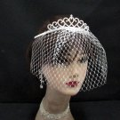 Bridal Veil ;Crystal Silver Pearl Bride Headpiece;Bridesmaid Tiara;Opera Hair accessories #9430
