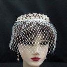 Bridal Veil ;Crystal Silver Bride Headpiece;Bridesmaid Tiara;Opera Hair accessories #163