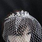 Bridal Veil ;Crystal Silver Bride Headpiece;Bridesmaid Tiara;Opera Hair accessories #164ny