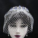 Bridal Veil ;Crystal Silver Bride Headpiece;Bridesmaid Tiara;Opera Hair accessories #164pu