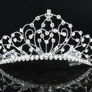 Bridal Veil ;Crystal Silver Bride Headpiece;Bridesmaid Tiara;Opera Hair accessories #1201s