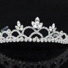 Opera Hair accessories ;Bridal Veil ;Crystal Silver Bride Headpiece;Bridesmaid Tiara#8856