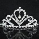 Opera Hair accessories ;Bridal Veil ;Crystal Silver Bride Headpiece;Bridesmaid Tiara#9014