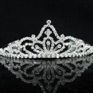 Opera Hair accessories ;Bridal Veil ;Crystal Silver Bride Headpiece;Bridesmaid Tiara#9193
