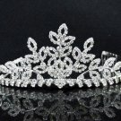 Opera Hair accessories ;Bridal Veil ;Crystal Silver Bride Headpiece;Bridesmaid Tiara#c012