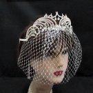Opera Hair accessories ;Bridal Veil ;Crystal Silver Bride Headpiece;Bridesmaid Tiara#c013