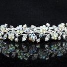 Opera Hair accessories ;Bridal Veil ;Crystal Silver Bride Headpiece;Bridesmaid Tiara#c020