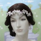 Opera Hair accessories ;Bridal Veil ;Crystal Silver Bride Headpiece;Bridesmaid Tiara#4938