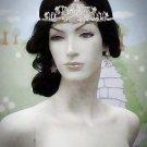 Opera Hair accessories ;Bridal Veil ;Crystal Silver Bride Headpiece;Bridesmaid Tiara#8124