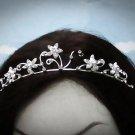 Opera Hair accessories ;Bridal Veil ;Crystal Silver Bride Headpiece;Bridesmaid Tiara#4724