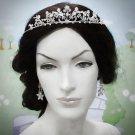 Opera Hair accessories ;Bridal Veil ;Crystal Silver Bride Headpiece;Bridesmaid Tiara#395