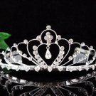 Bridesmaid Tiara ; Bridal Veil ;Opera Hair accessories ;Silver Bride Headpiece#960s