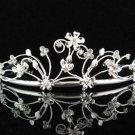 Bridesmaid Tiara;Bridal Veil ;Opera Hair accessories ;Silver Floral Bride Headpiece#682s