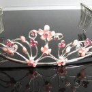 Bridesmaid Tiara;Bridal Veil ;Opera Hair accessories ;Silver Floral Bride Headpiece#684p