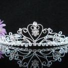 Opera Hair accessories ;Bridesmaid Tiara;Bridal Veil ;Silver Sweetheart Bride Headpiece#583