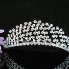 Opera Hair accessories ;Bridesmaid Tiara;Bridal Veil ;Fancy Silver Bride Headpiece#918