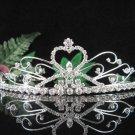 Opera Hair accessories ;Bridesmaid Tiara;Bridal Veil ;Fancy Silver Bride Headpiece#1040