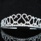 Opera Hair accessories ;Bridesmaid Tiara;Bridal Veil ;Fancy Silver Bride Headpiece#1064