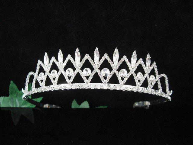 Bridal Veil ;Opera Hair accessories ;Bridesmaid Tiara;Fancy Silver Bride Headpiece#1432s