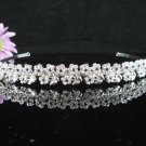 Bridal Veil ;Opera Hair accessories ;Bridesmaid Tiara;Fancy Silver Bride Headband #61ny