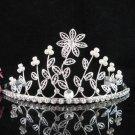 Bridal Veil ;Opera Hair accessories ;Bridesmaid Tiara;elegance Silver Bride Headpiece#148