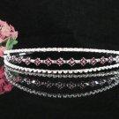 Bridal Veil ;Opera accessories ;Bridesmaid Tiara;Teen girl headpiece;Silver Bride Headband#1277r